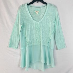 Anthropologie Meadow Rue Size M 3/4 Sleeve Blouse